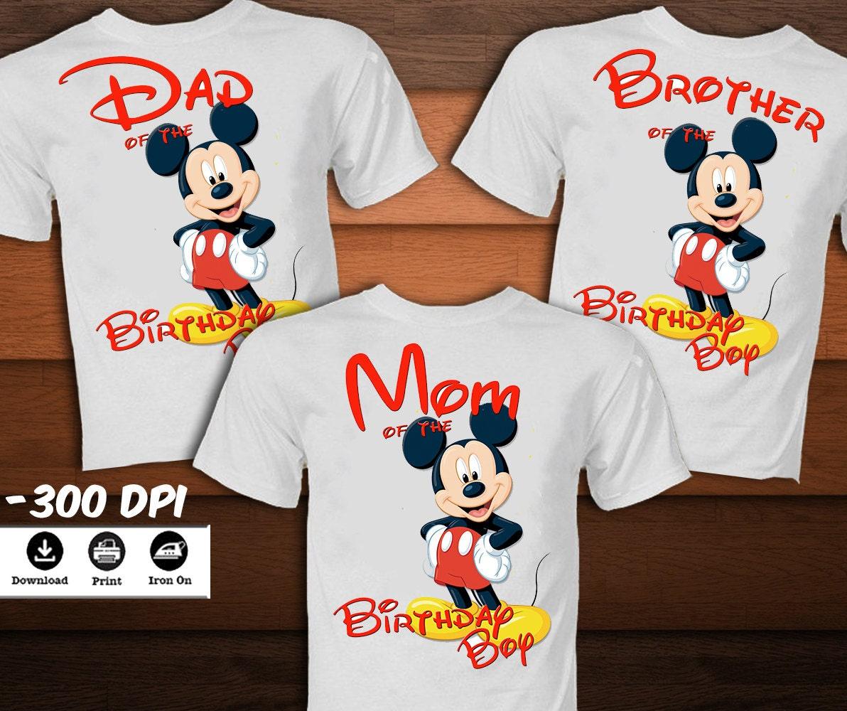 Mickey Mouse Birthday Shirt 1