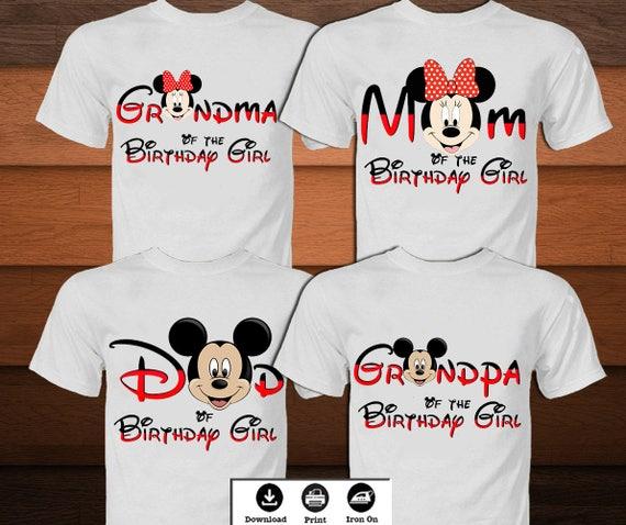 Disney Birthday Shirt For Family Mickey Mouse Iron On Transfer