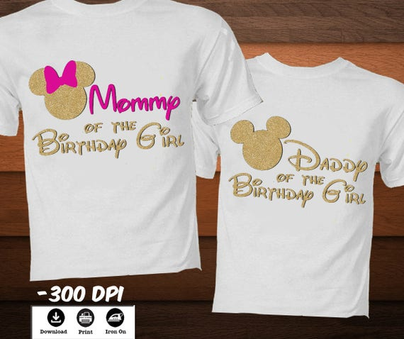 Minnie Mouse Iron On Transfer Birthday Shirt