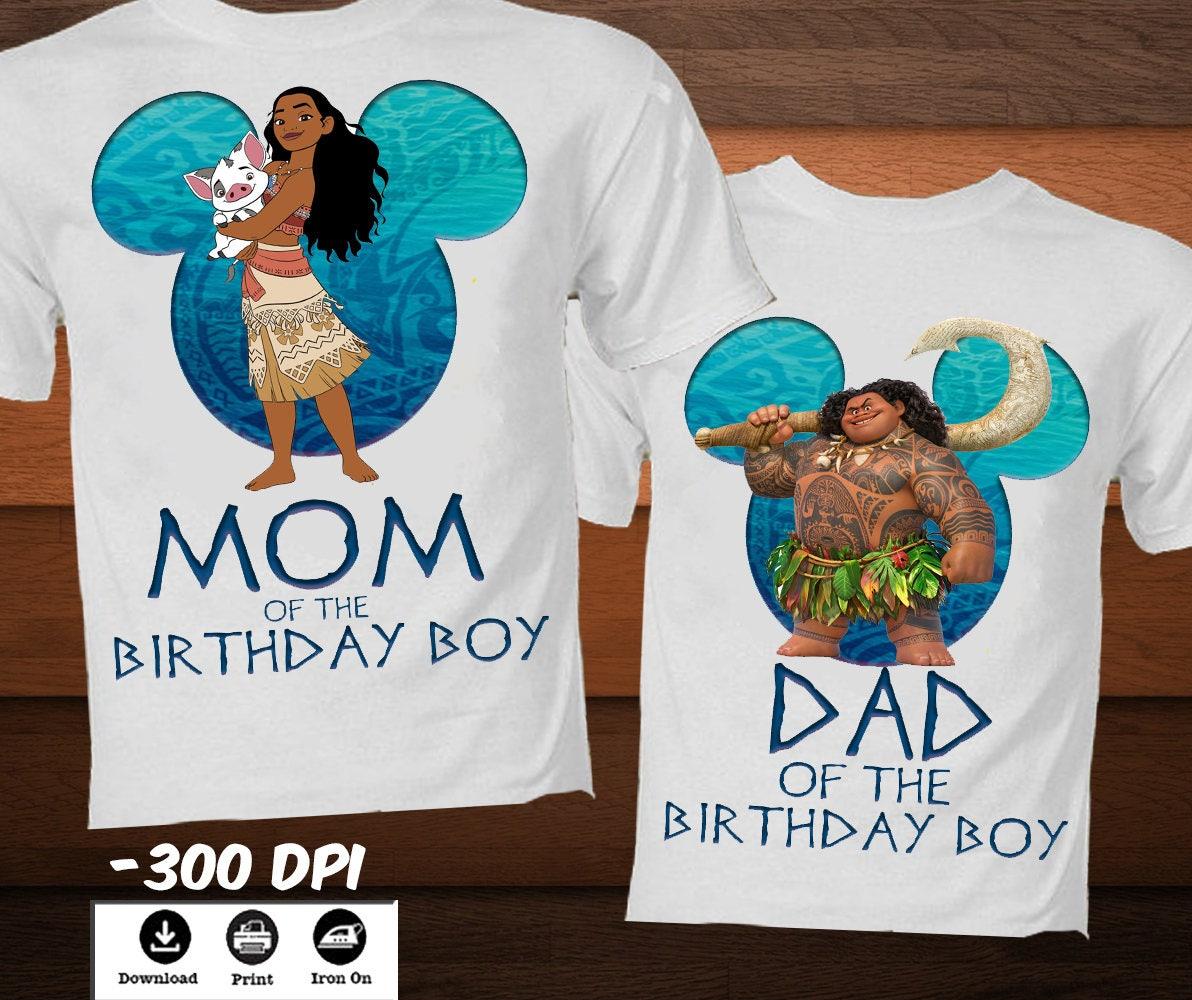 bcfbce20 Moana Birthday Shirts For Family