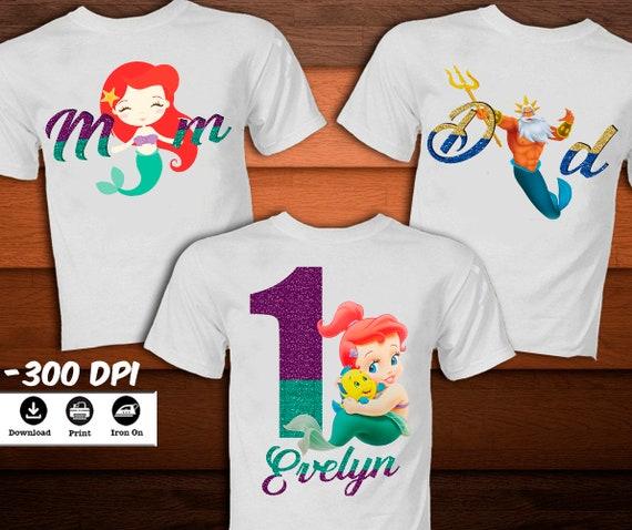 0da832c09 Ariel Little Mermaid Disney Family Shirt-Princess Mermaid | Etsy