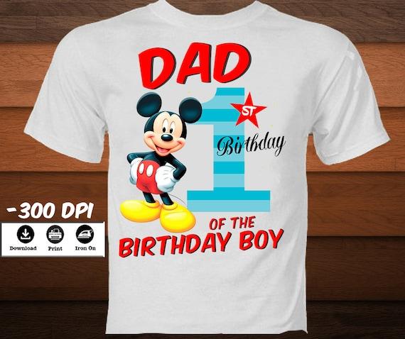 f76f6b068 Mickey Mouse First Birthday T-Shirt-Disney Iron on Transfer | Etsy