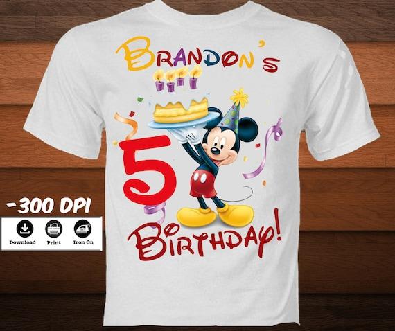 Diy Mickey Mouse Eisen Auf Ubertragung Geburtstag Etsy
