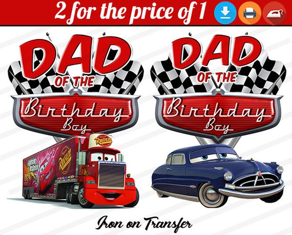 Disney Cars Iron On Transfer Image Birthday Party