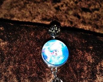 Blue goddess bracelet
