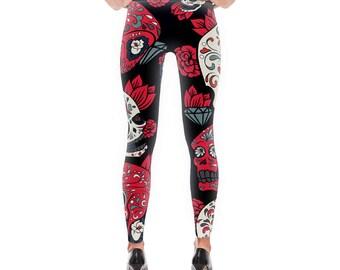 5bd9d6ca9c4113 Sugar skull leggings | Etsy