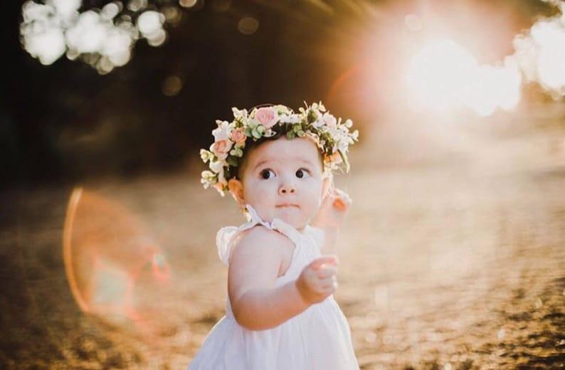 a60777178f8 Baby flower crown newborn crown newborn headband baby