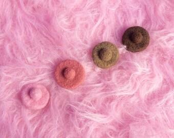 Feminist Pin | Feminist Gift | Felt Nipple Brooch | Feminism | Girl Power | Feminist Art | BreastFeeding