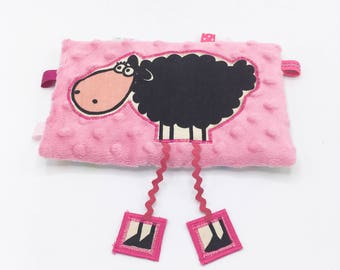 Light pink sheep cuddly with long legs