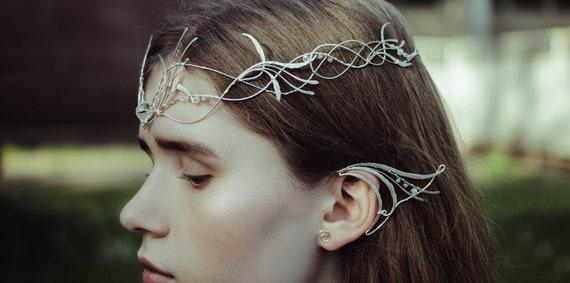 vente la moins chère la clientèle d'abord Pré-commander Galadriel Couronne elfique diadème LOTR diadème Seigneur des anneaux  Tolkien Hobbit Silmarillion argent diadème mariage ensemble bijoux en métal  Elf ...