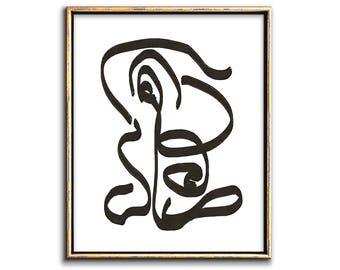 Modern Minimalist Wall Art, Minimalist Poster, Black and White Wall Art, Printable Wall Art, Downloadable Art, Downloadable Prints, Artwork