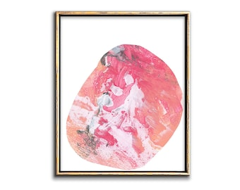 Pink Abstract Art Printable Artwork, Collage Art Pink Abstract Painting  Contemporary Printable Art Modern Office Wall Decor