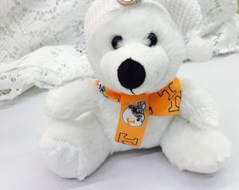 Tennessee Vols inspired teddy bear, football toys, Vols inspired gifts, sports team bear.