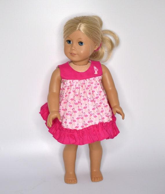 "Flamingo//Lime Green Pajamas for 18/"" Doll Clothes American Girl"