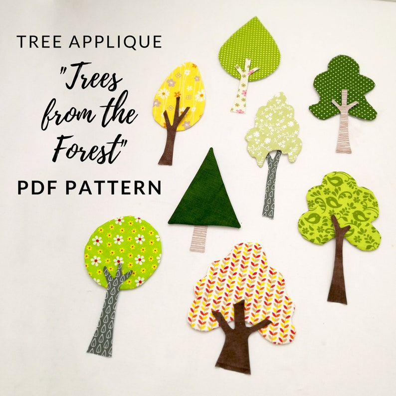 Artistic Tree applique patterns in instant download PDF 8 image 0
