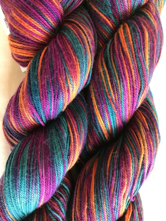 CottonBamboo Worsted Weight Hand-painted Yarn Mia