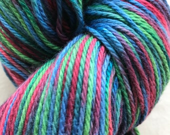 """Cotton/Bamboo Worsted Weight Hand-painted Yarn """"Malcolm"""""""