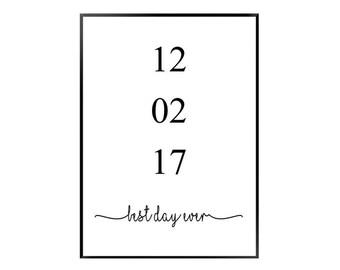 Anniversary Date print