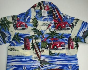 Father and Son Matching Hawaiian shirts