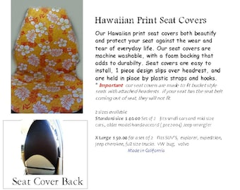 Hawaiian Seat Covers Orange Volcano