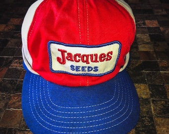 16f9f0c1 70's Vintage Jacques Seeds Swingster Wearables Farming Hat with Fold Down  Ear Flap
