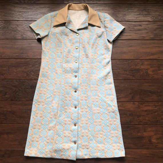60's/70's Vintage Women's Polyester Shirt Dress - image 1