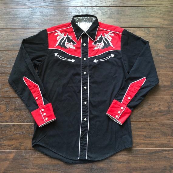 70's Vintage Western Rockabilly Men's Roper Shirt