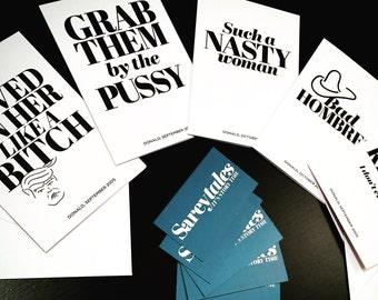 Sareytales Greeting Cards: TRUMP EDITION