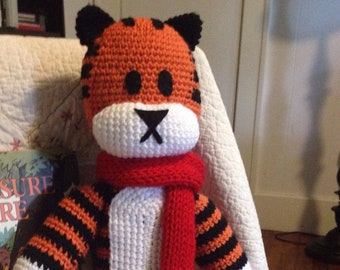 Tiger Stuffed Animal (Handmade, Crochet)
