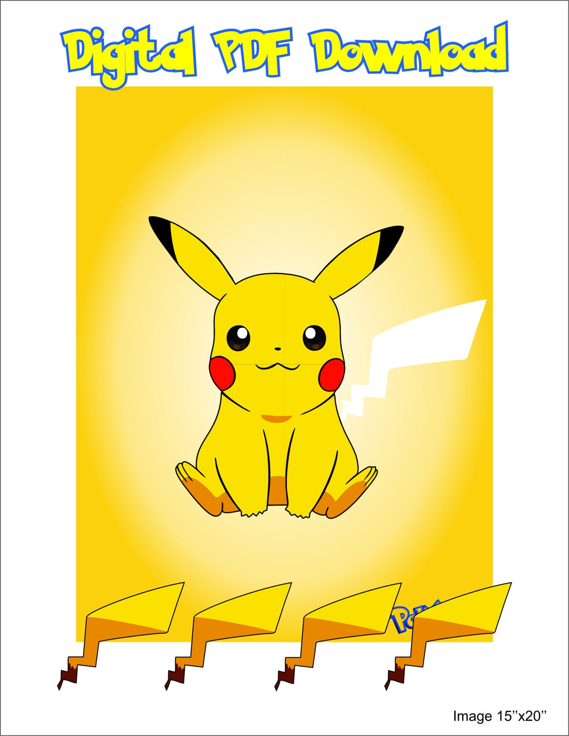 Pin The Tail On Pikachu Etsy
