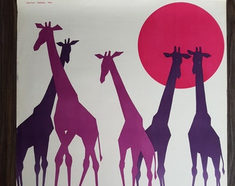 "Original German Vintage Poster ""ZOO Leipzig"" from the GDR/DDR 1964"