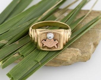 Antique masonic ring | Etsy