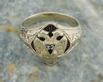 Gold masonic ring   Etsy