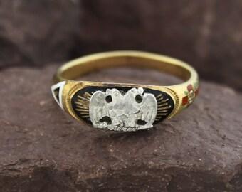 Vintage masonic ring | Etsy
