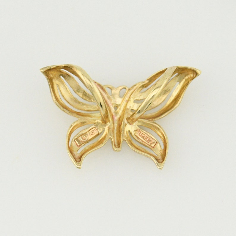 Jewelry Is Me:Great Holiday Gifts Him or Her Vintage to Modern 14k YG /& WG Estate Open Wrk Diamond Cut Butterfly Animal SlidePendant