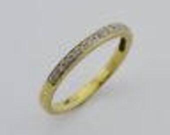 10k Yellow Gold Estate Diamond Band/Ring Size 7.25