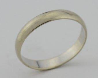 14k White Gold Estate Band/Ring Size 10.75