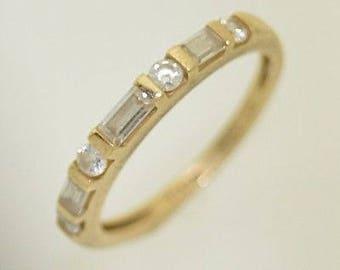 14k Yellow Gold Estate CZ Band/Ring Size 6.25