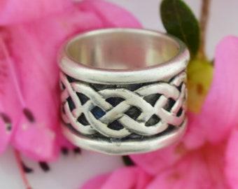 Sterling Silver 925 Vintage Solvar Celtic Knot Ring Size 7.25