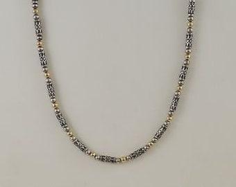 Sterling Silver 925 Estate Zanfeld Designer Exotic Bead Necklace/Chain