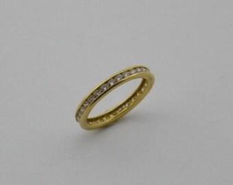 14k Yellow Gold Estate CZ Band/Ring Size 7.25