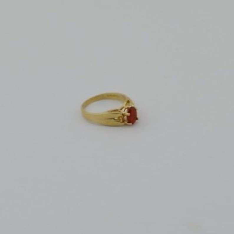 Jewelry Is Me:Great Holiday Gifts Him or Her Vintage to Modern 10k Yellow Gold Estate Orange Gemstone Ring Size 5.75