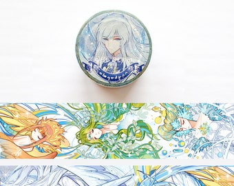 The Clow Silver Foil Washi Tape, Cardcaptor Sakura Fan Illustrated Washi Roll, Masking Tape, Deco Tape