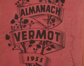Antique French Almanach Vermot yearbook for 1955 MCM Mid Century