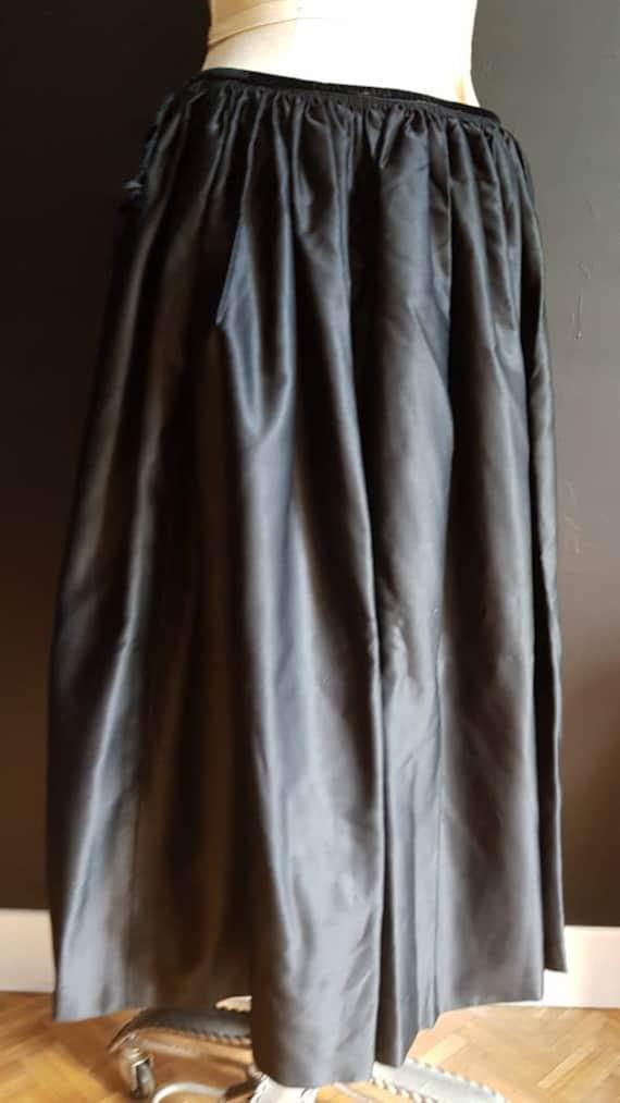 Vintage French black skirt Breton traditional cos… - image 4
