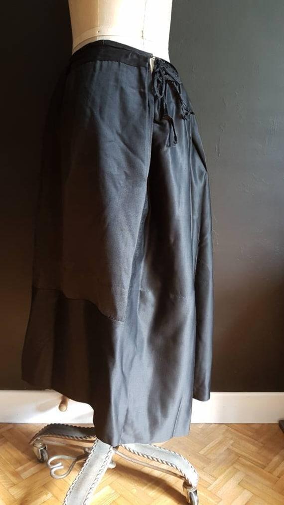 Vintage French black skirt Breton traditional cos… - image 5