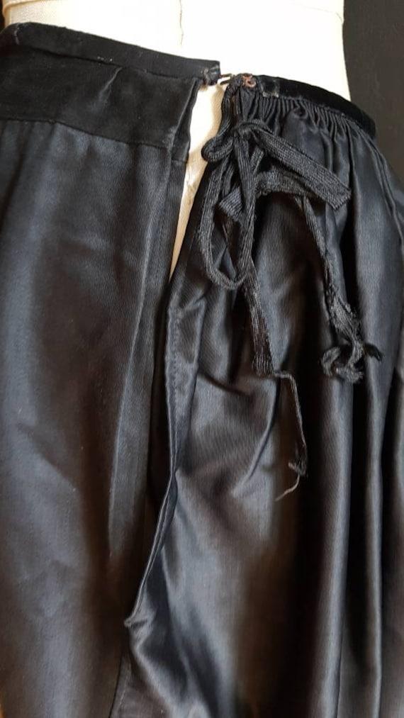 Vintage French black skirt Breton traditional cos… - image 6