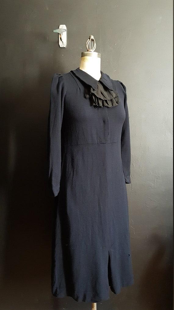Vintage French  1920s day midi dress