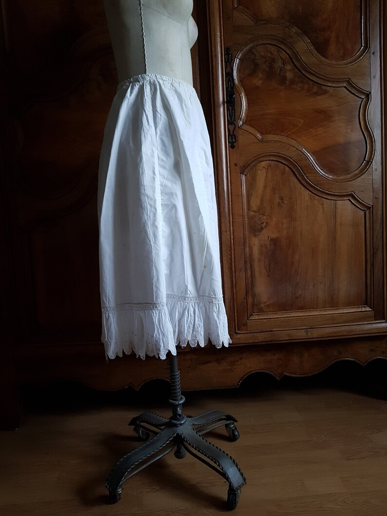 Antique French white petticoat bloomers drawers
