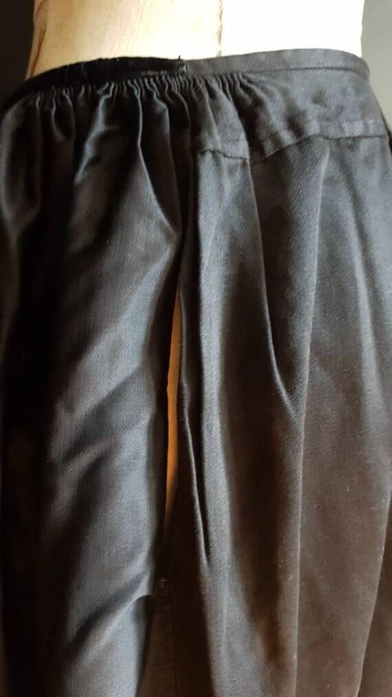 Vintage French black skirt Breton traditional cos… - image 9